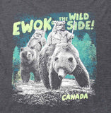 Women's Ewok on the Wild Side Crew Neck T-shirt