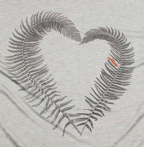Fern Heart Ladies Muscle Tee