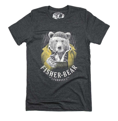 Adult Unisex Fisher Bear T-shirt