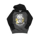 Fisher Bear Youth pullover raglan hoody