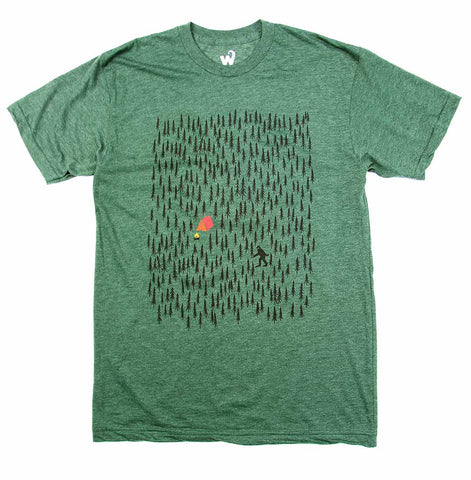 Adult Unisex Forest Camping T-shirt