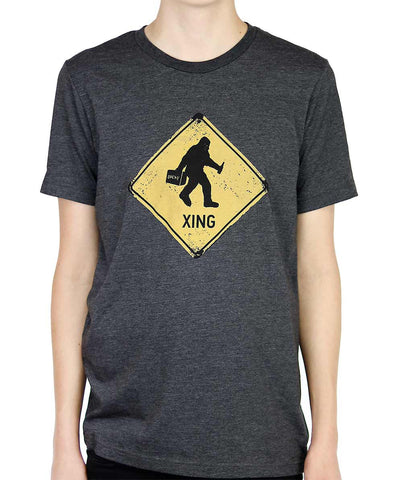 Adult Unisex Sasquatch Crossing T-shirt