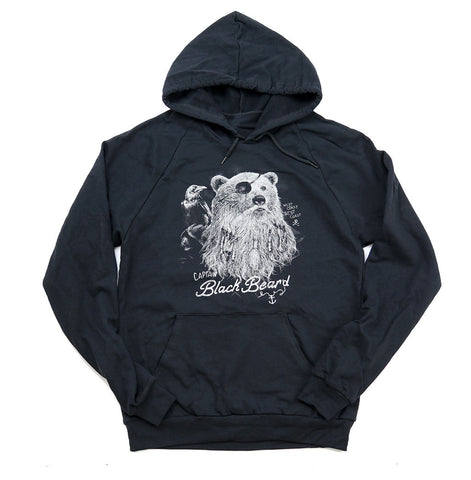 Adult Unisex Captain Black Bear'd Hoodie