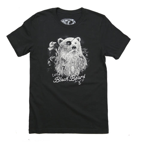 Adult Unisex Captain Black Bear'd T-shirt