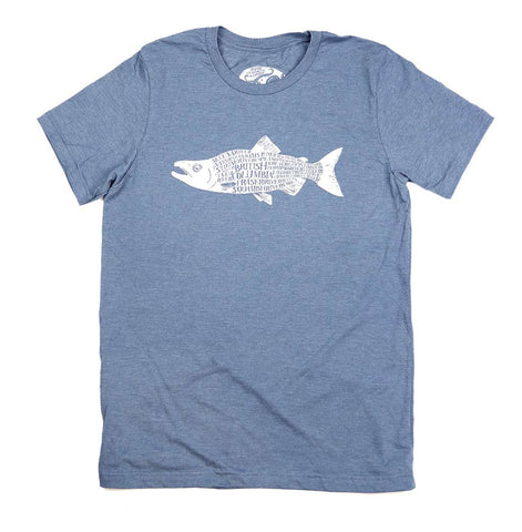 Adult Unisex Homeward Salmon BC T-shirt