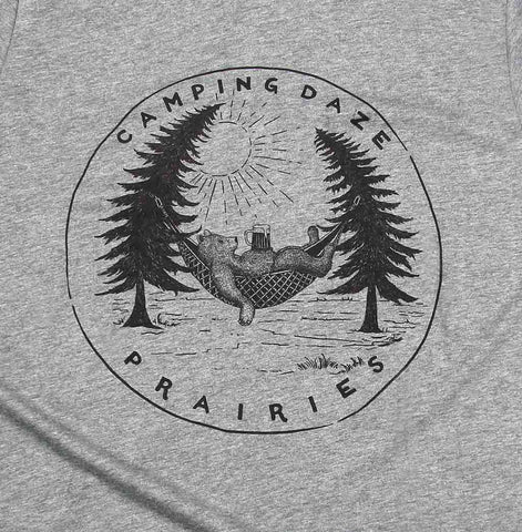 Adult Unisex Camping Daze Prairies T-shirt