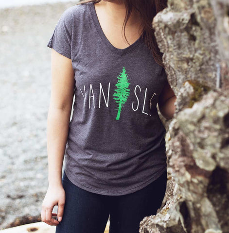 Women's Cedar Tree V-neck