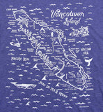 Van Isle Map Scoop-neck