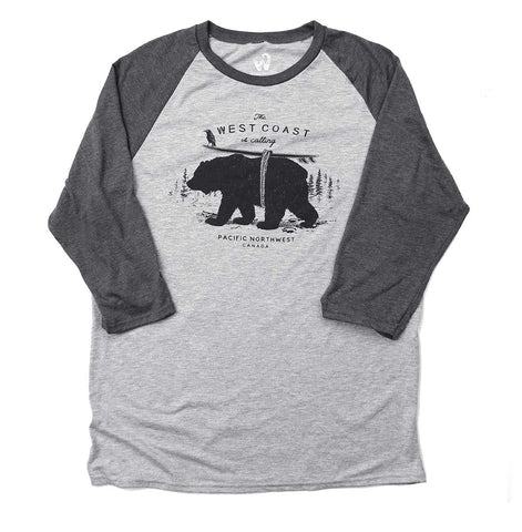 Adult Unisex West Coast is Calling Raglan