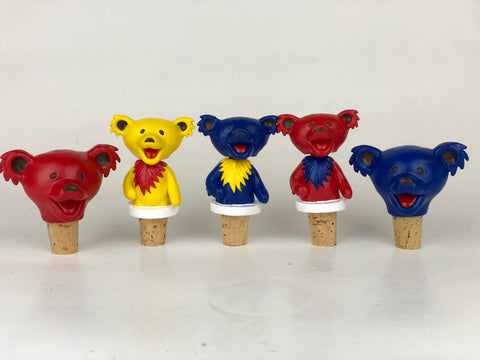 Grateful Dead Dancing Bears Bottle Stoppers - 3pc Set