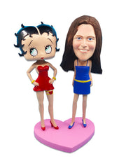 Betty Boop & Female Friend Custom Bobblehead