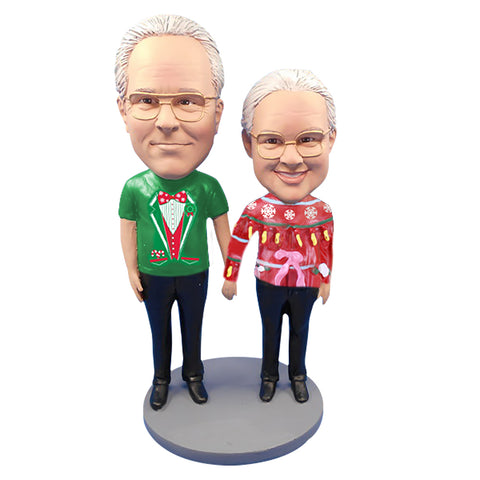 Custom Bobbleheads: Ugly Sweater Couple