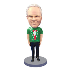 Custom Bobbleheads: Male Christmas Shirt