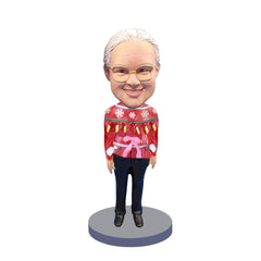 Custom Bobbleheads: Female Christmas Sweater