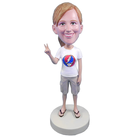 Female Grateful Dead Fan - Steal Your Face