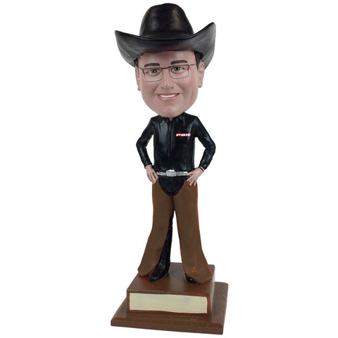 Professional Bull Riders (PBR) Custom Fan Bobblehead - hands on hips