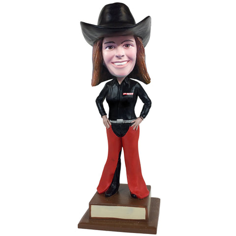 Professional Bull Riders (PBR) Female Custom Fan Bobblehead - hands on hips