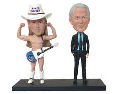 Naked Cowboy Custom Bobblehead: With Male