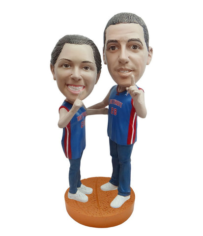 Detroit Pistons Number One Couple Standard Base