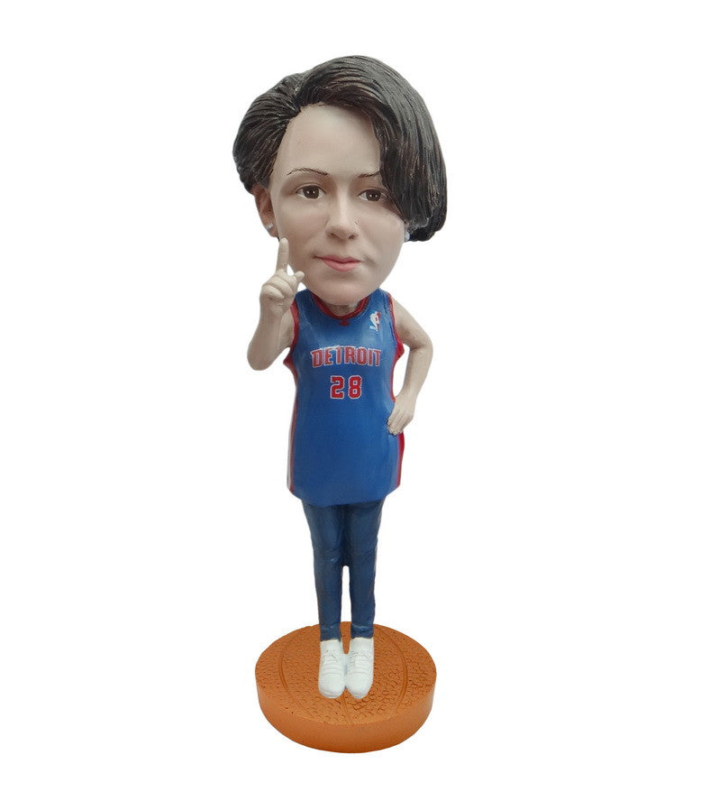 Detroit Pistons Number One Female Fan Standard Base