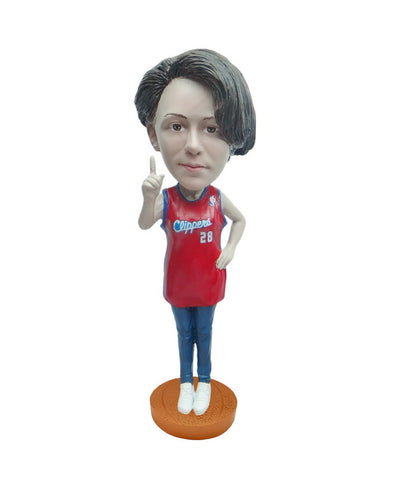 Los Angeles Clippers Number One Female Fan Standard Base