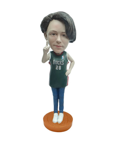 Milwaukee Bucks Number One Female Fan Standard Base