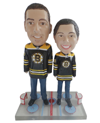 Boston Bruins Male and Female Fans