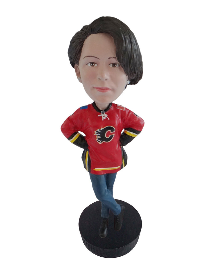 Calgary Flames Female Fan Standard Base