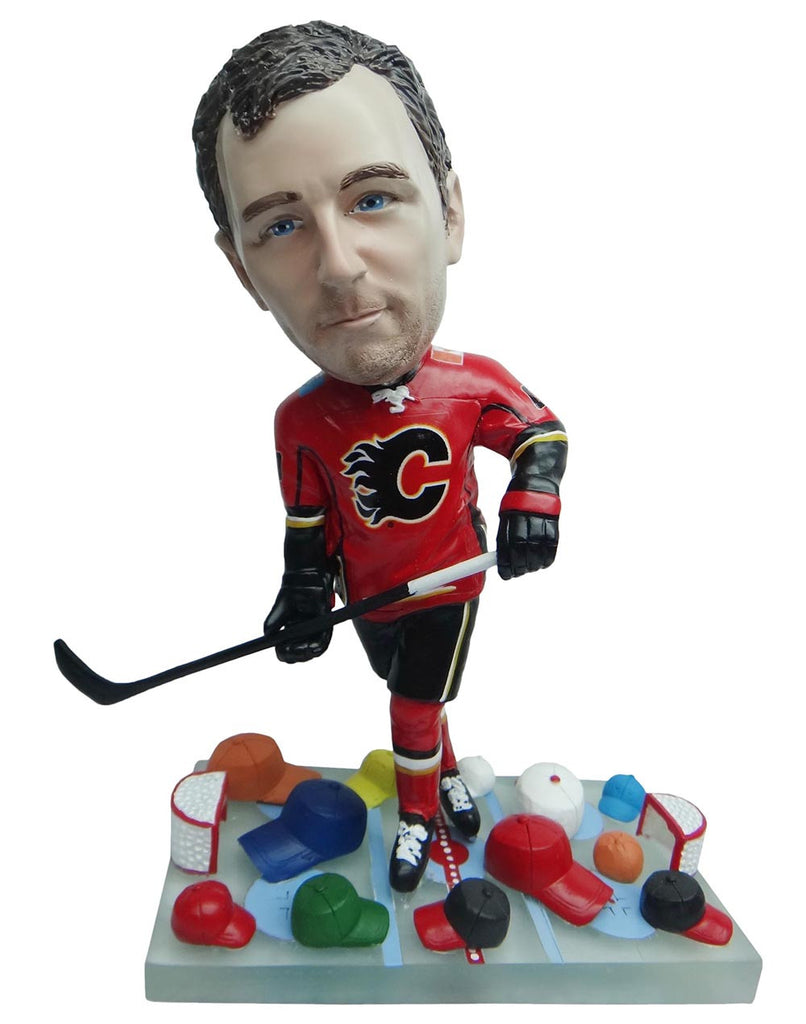 Calgary Flames Hat Trick Bobble Boss
