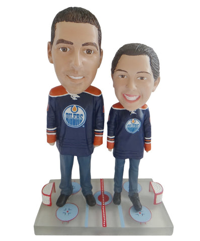 Edmonton Oilers Male and Female Fans