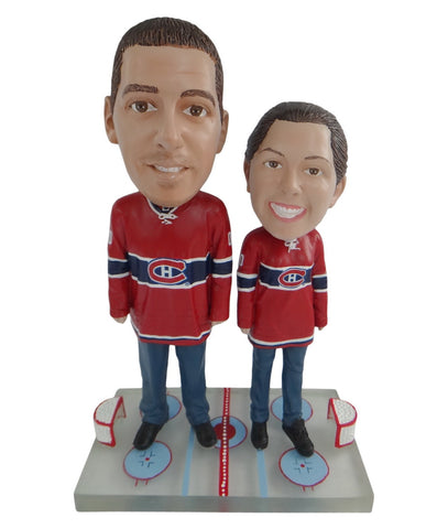 Montreal Canadiens Male and Female Fans