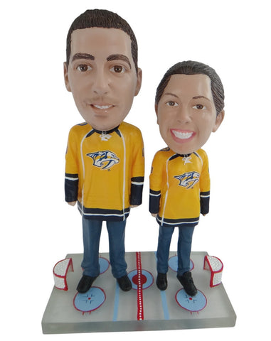 Nashville Predators Male and Female Fans