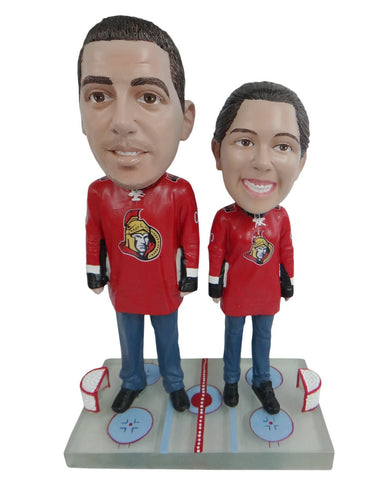 Ottawa Senators Male and Female Fans