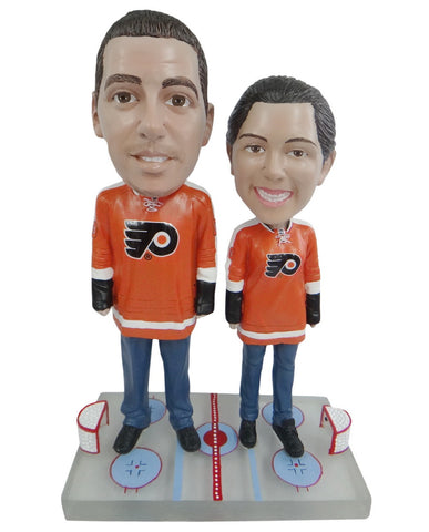 Philadelphia Flyers Male and Female Fans