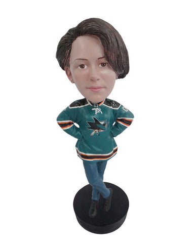San Jose Sharks Female Fan Standard Base