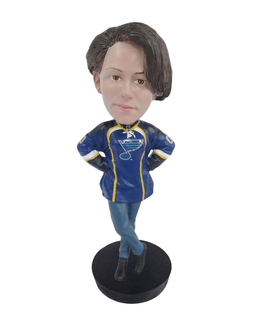St Louis Blues Female Fan Standard Base