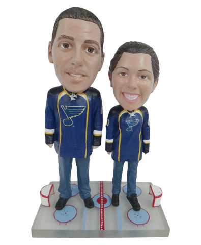 St Louis Blues Male and Female Fans