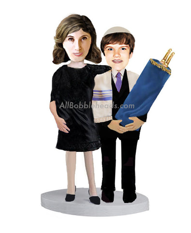 Couple Religious Bar Mitzvah Mother and Son