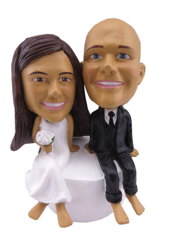CUSTOM WEDDING CAKE TOPPER - H56CT
