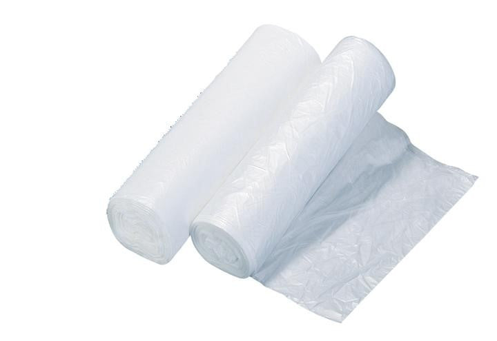 7 10 Gallon Clear Kitchen Trash Can Liners   1 Case