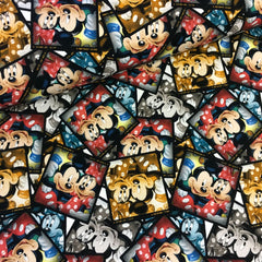 Bomuldsjersey - Tegnefilm - Mickey og Minnie Mouse fotografier