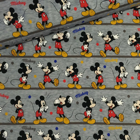Bomuldsjersey - Tegnefilm - Mickey Mouse
