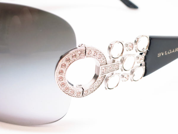 Bvlgari BV 6063B 102/8G Silver / Black Sunglasses - Eye Heart Shades - Bvlgari - Sunglasses - 3