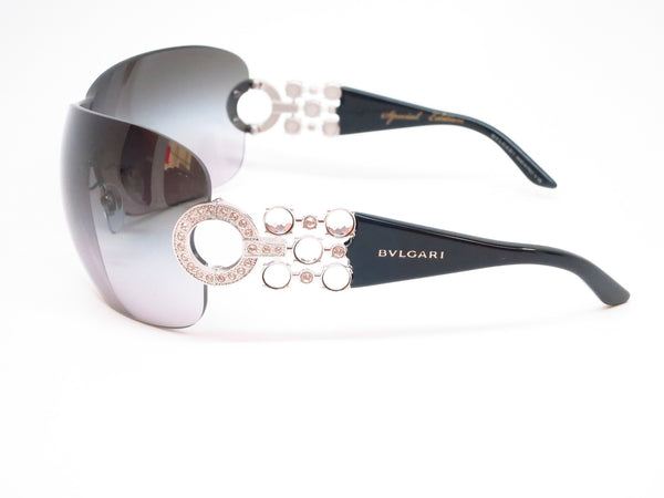 Bvlgari BV 6063B 102/8G Silver / Black Sunglasses - Eye Heart Shades - Bvlgari - Sunglasses - 5