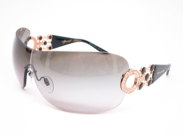 Bvlgari BV 6063B 376/11 Pink Gold / Gloss Black Sunglasses - Eye Heart Shades - Bvlgari - Sunglasses - 1