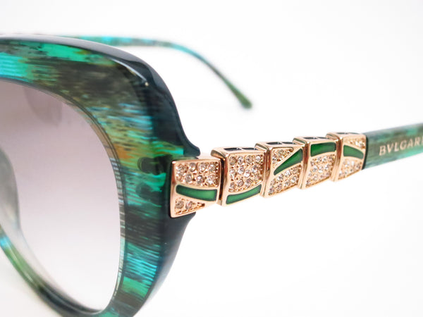 Bvlgari BV 8143B 5340/8E Green Aqua Sunglasses - Eye Heart Shades - Bvlgari - Sunglasses - 3