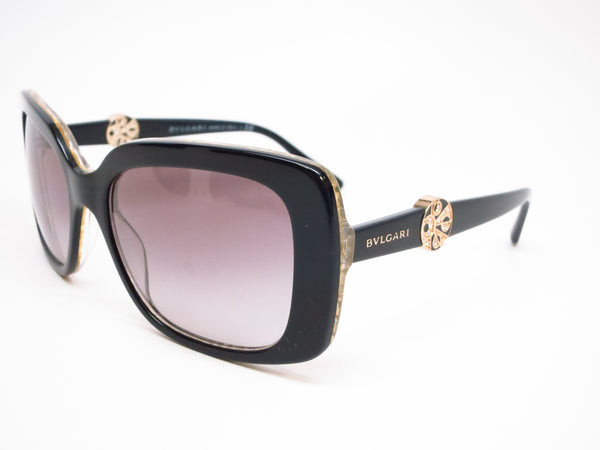 Bvlgari BV 8146B 5325/11 Top Black on Glitter Gold Sunglasses - Eye Heart Shades - Bvlgari - Sunglasses - 1