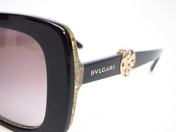 Bvlgari BV 8146B 5325/11 Top Black on Glitter Gold Sunglasses - Eye Heart Shades - Bvlgari - Sunglasses - 3