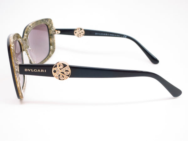Bvlgari BV 8146B 5325/11 Top Black on Glitter Gold Sunglasses - Eye Heart Shades - Bvlgari - Sunglasses - 5