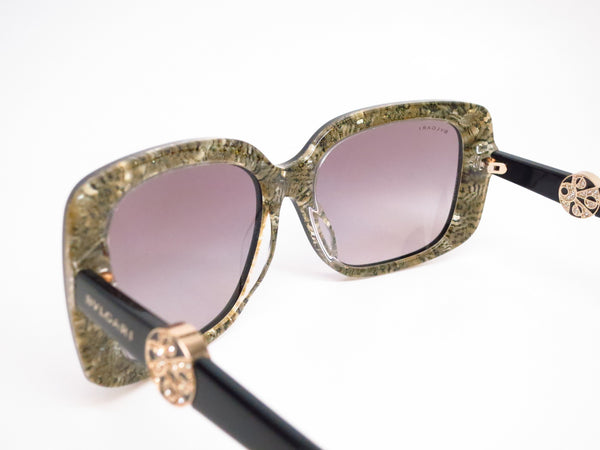 Bvlgari BV 8146B 5325/11 Top Black on Glitter Gold Sunglasses - Eye Heart Shades - Bvlgari - Sunglasses - 6